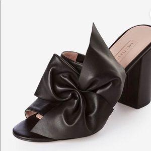 Marie Leather High Heel Mule